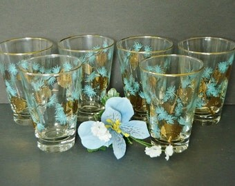 Vintage Libbey Pine Cone Glasses