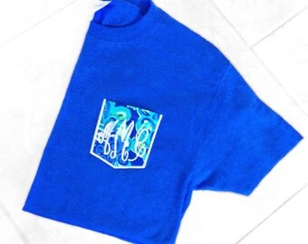 Lilly Pulitzer monogrammed Pocket Tee