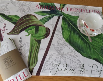 Botanical Tea Towel - Jack-in -the-pulpit