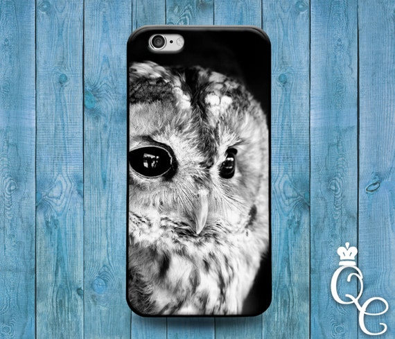 iPhone 4 4s 5 5s 5c SE 6 6s 7 plus iPod Touch 4th 5th 6th Generation Cute Custom Beautiful Black White Snow Owl Bird Phone Cover Winter Case