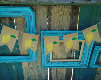 Lemon Lemonade Stand Banner Sign Garland