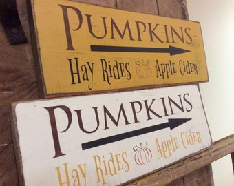 Pumpkin wooden sign- fall decor- pumpkins painted wooden sign- fall sign- halloween sign- thanksgiving sign- wooden pumpkin sign
