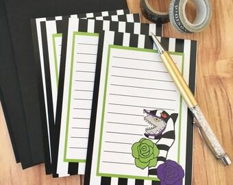 Beetle Juice stationery letter set