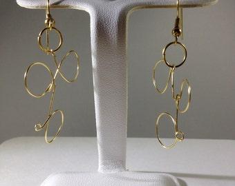 Gold Wire Earrings