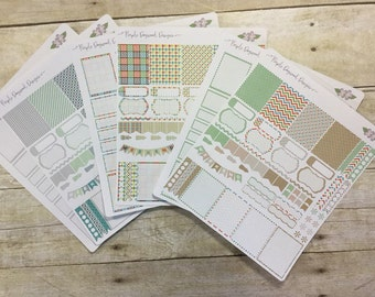 Boys will ge boys theme kit!  6 life planner sticker pages!