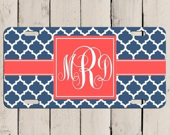 Monogram License Plate - Design your own! Monogram Car Tag - Personalized Gift! Custom Car Tag for your ride - Customize your own Car Plate