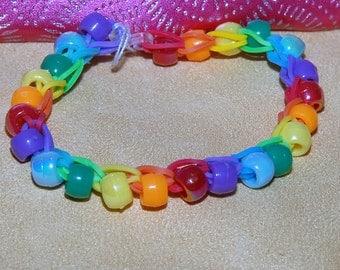 Rainbow Loom Spiral Beaded Bracelet. Original Design