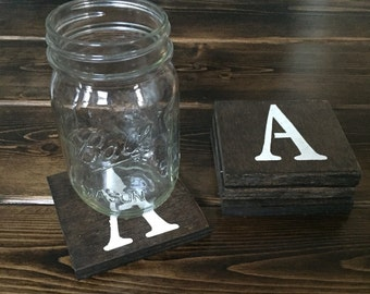 Personalized Monogrammed Wooden Coasters