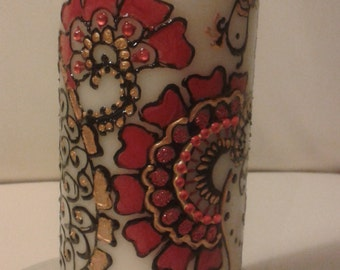 VERONA gifts CANDLES DECORATED hand painted candles.