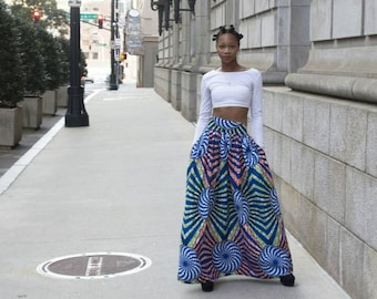 SAMPLE SALE MENA Mode Ankara Fabric skirt
