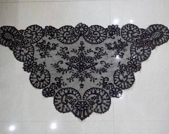 Black Embroidery Lace Mantilla ,Church Catholic Lace Veil ,Spanish Lace Mantilla Veil ,Chapel Lace Scarf 8 pcs