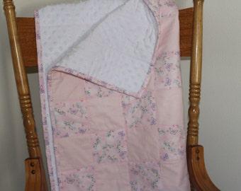 """Pink Butterflies Baby quilt 32"""" x 32"""""""
