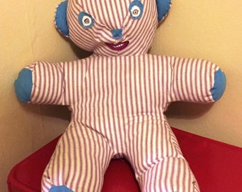 Unsettling Teddy Bear from Vintage Pattern