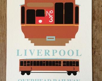 Dockers Umbrella, Trolly car, Overhead railway, Liverpool.