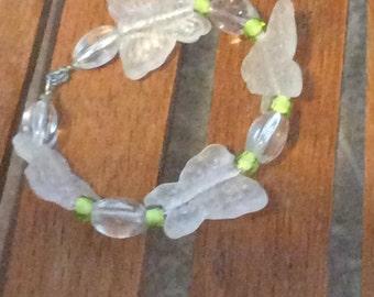 Crystal butterflies bracelet