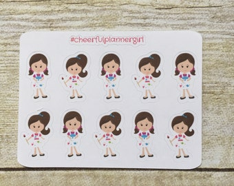 Art Class Painting Party Girls Set 2 Small Sampler Planner Stickers
