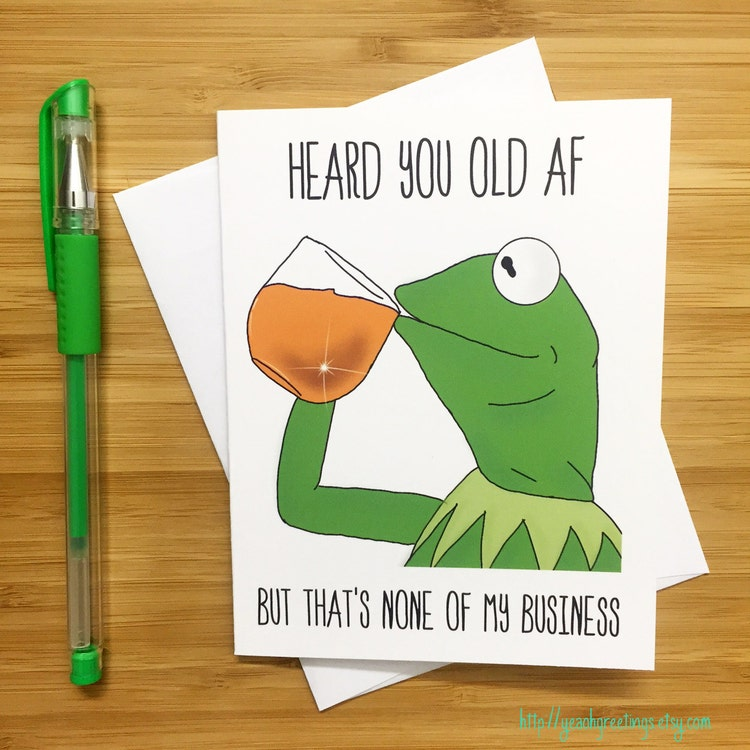 Funny Birthday Card Kermit The Frog Kermit By YeaOhGreetings