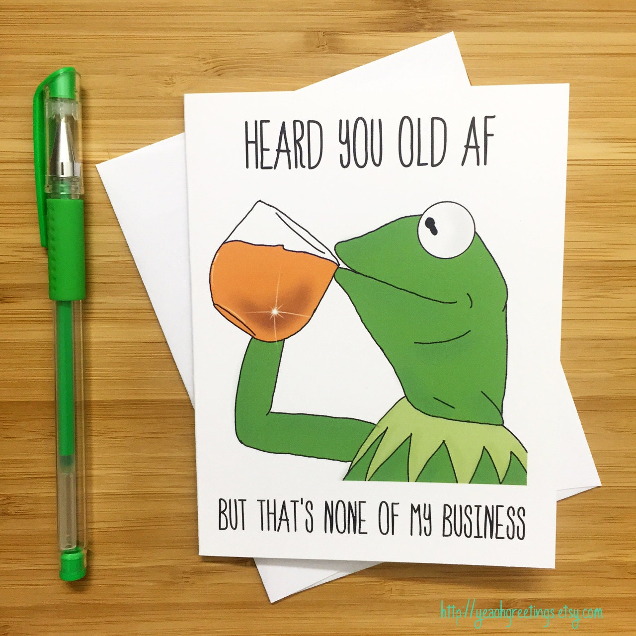 Funny Birthday Card Kermit The Frog Kermit Muppets Meme