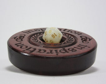 Inspiration Dice Display, Round, Dice, Dice Box, Dice Case, Dice Holder, Box of Holding, D20, Dungeons and Dragons, RPG, Pathfinder, DND