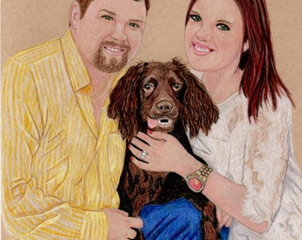 Portrait drawing, family portrait, pencil drawing, drawing from photo, Custom drawing, commissioned drawing,realistic drawing, pet drawing