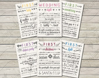 Wedding Gift Wine Tags Printable : Milestone Wedding Gift Wine Labels First Anniversary Bridal