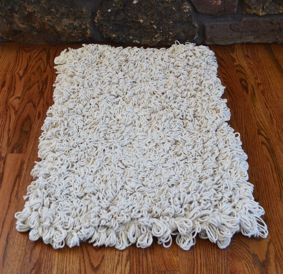 Cotton Loop Back Area Rug Fluffy Modern Rugs By