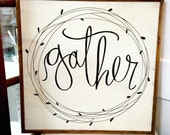 Gather - Hand lettered Si...