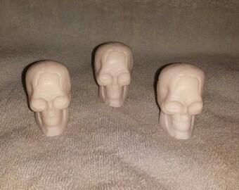 Goat's Milk Skull Soaps, Set of 3 Goats Milk Skull Soaps