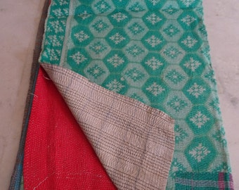 Indian Handmade Kantha Quilts Vintage Throw Bedcover Bedspread Gudri 1556 BY artisanofrajasthan
