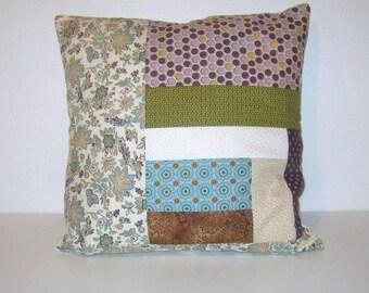 Patchwork Pillow, Decorative Pillows, Home Decor
