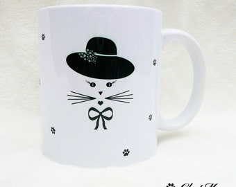 Mug, coffee mug, cat mug, custom mug, funny mugs, ceramic mug, personalized mug,  tea cup, personalized cups, coffee cup, mom mug, ChatMage