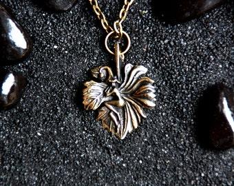 Thumbelina : Bronze Handmade Pendant with chain