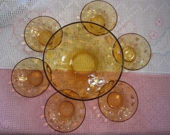 Vintage Hazel Atlas Eldorado salad bowl set / Vintage Together with Hazel Atlas Eldorado salad bowl