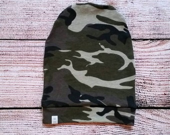 Baby/Toddler Camo Slouch Beanie