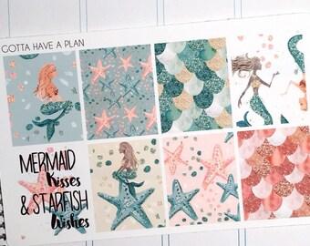 Planner Stickers Mermaid Kisses Full Box for Erin Condren, Happy Planner, Filofax, Scrapbooking