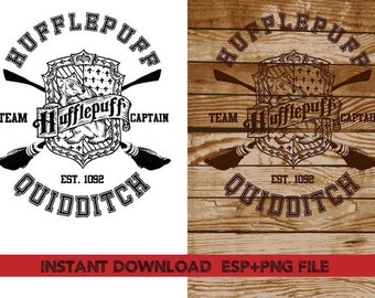Hufflepuff Quidditch Clip Art,T shirt, iron on , sticker, Vectors files ,Personal Use