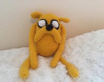 Handmade Crochet Amigurumi Jake The Dog Adventure Time Doll