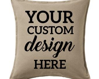 Custom design pillow cover, Custom Pillow cover, Custom Canvas pillow cover, Decor pillow cover