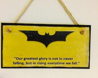 Batman The Dark Knight plaque