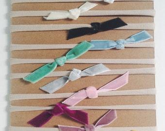 color samples- velvet bebe headbands