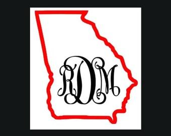 Georgia Monogram Decal
