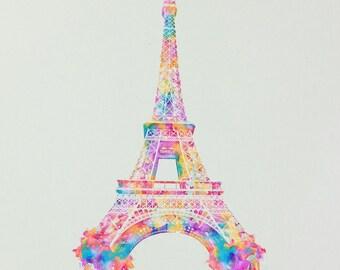 9x10 inch Eiffel Tower Print by Ronald Restituyo