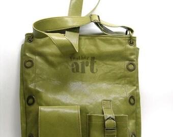 Leather bag Olive