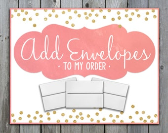 Add Envelopes To Your Order - A6 White Envelopes