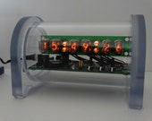 6 x IN-17 Dimmable Nixie Tube Clock with Battery Backup