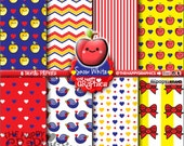 80%OFF - Snow White Digital Paper, COMMERCIAL USE, Snow White Pattern, Printable Paper, Snow White Party, Snow White Paper, Princess