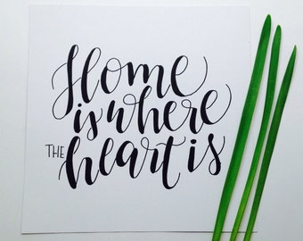 Square Home Is Where The Heart Is