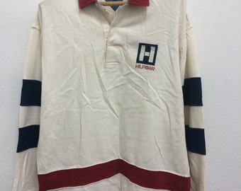 Vintage Tommy Hilfiger Rugby Shirt Sailing Gear 90s Hip Hop