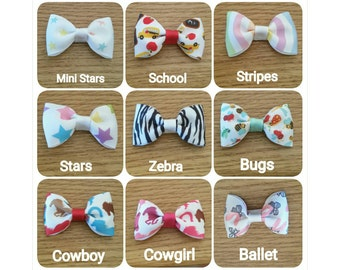 Patterned Mini Bows 2.5""
