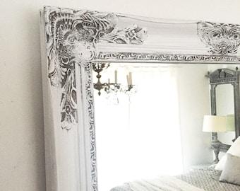 Shabby Chic Mirror Large Mirror Bathroom Mirror Vanity Mirror Baroque Mirror Wall Mirror Ornate Mirror Custom Colors Available